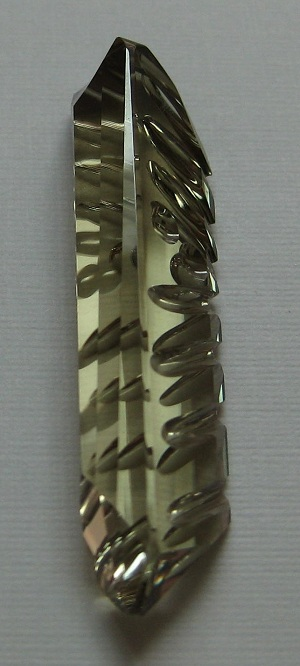 21.80 cts. Zultanite® Carved Monument by Christopher Wolfsberg